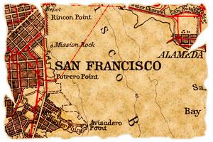 old map of San Francisco, California